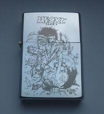 HEAVY METAL - chrome petrol lighter [Cd:679.mc-40-lP.] mini poster fakk f.a.k.k.