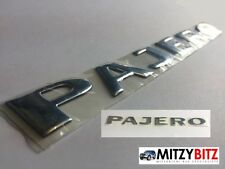 QUALITY MITSUBISHI PAJERO CHROME TAILGATE / QUARTER / WING DECAL RAISED STICKER