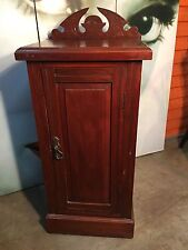 Beautifully Carved Antique Mahogany c1900 Edwardian Bedside Cabinet