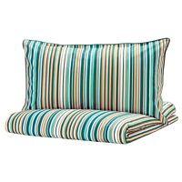 IKEA Duvet Cover Set + Pillowcases All Sizes Multicolour Green stripes RANDGRAS