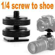 NEW Durable 1/4'' -20 Tripod Mount Screw to Flash Camera Hot Shoe Adapter mount
