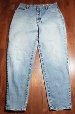 Women's Eddie Bauer Blue Premium Denim Jeans Sz 18 36x32* Distressed* B848