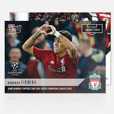 ROBERTO FIRMINO LIVERPOOL UEFA CHAMPIONS LEAGUE WINNING GOAL TOPPS NOW CARD #2