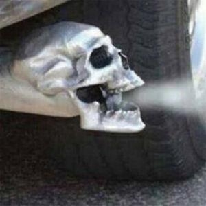 Halloween Skull Exhaust Pipe Metal Skull Muffler Exhaust Tip Hammered Aluminium