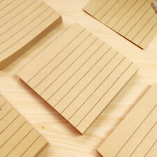 """RULED Kraft Sticky Notes Paper PAD 3""""x3"""" Note pads Memo Note 80 sheets"""