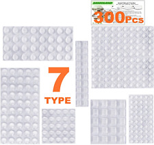 Clear Rubber Feet Bumpers Pads 300 Pieces Self Adhesive Transparent Stick Bumper