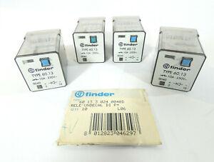 4 Stück finder Typ 60.13.3.024.0040D Industrie-Relais | 10A | 250V~ | 24VDC