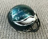 PHILADELPHIA EAGLES IRVING FRYAR #80 AUTOGRAPHED MINI HELMET - NEBRASKA FOOTBALL
