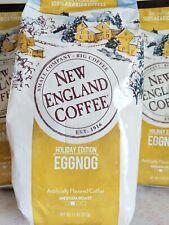 (3) New England Coffee Egg Nog Flavored Ground Coffee 11 oz each 10/2020