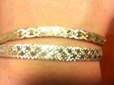 8 inch 925 Sterling Silver milor bracelet plus 8 inch 925 italy Bracelet (two)