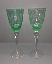 2 VERRES A VIN / Rome de verre cristal