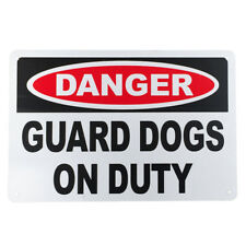 WARNGING SIGN GUARD DOG ONDUTY DANGER 200x300mm AL Security Protection 16003027