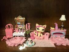 Authentic Littlest Pet Shop HTF #733 Siamese Cat W/ Tiny Elephant & 🍎iPhone