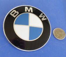 BMW EMBLEM MEDALLION OEM SCRIPT BADGE HOOD TRUNK? 5114 8 132 375 82mm