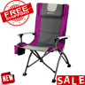 CHAIR FOLDING CAMPING PORTABLE Outdoor Camp Fishing Stool Picnic Beach High Back