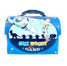 Disney Toy Story Buzz Lightyear Woody Metal Tin Workman Toolbox Lunch Box NEW