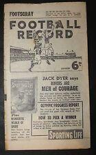 1956 Football Record Footscray vs St Kilda Footy Record Home and Away