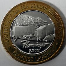 Flamingo Casino Laughlin 2002 .999 Fine Silver $10 Silver Strike