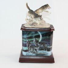 Bradford Exchange Al Agnew Souls Of The Wilderness Wolves Lighted Figurine Decor