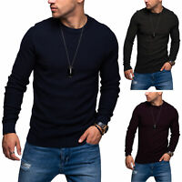 Jack & Jones Herren Strickpullover Basic Sweater Pullover Langarmshirt Shirt Top