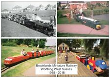 Brooklands Miniature Railway 1965-2018 Worthing West Sussex Train Loco Postcard