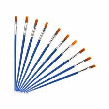 New 10 Pcs/Set Paint Brush Set New Nylon Blue Brush Kid Watercolor Drawing