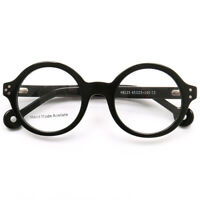 Luxury 45mm Handmade Acetate Round Eyeglass Frames Vintage Glasses Eyewear Retro