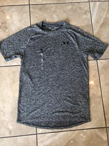Men's Gray Grey Under Armour top - size S