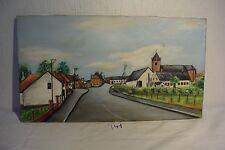 C41 Ancienne peinture de Marcel Delvaux Jurbise le viaduc