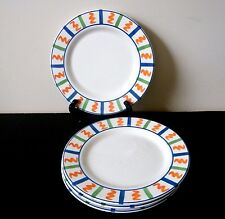 Made In Italy La Primula SRL Salad Dessert Plates Hand Painted Set of 4