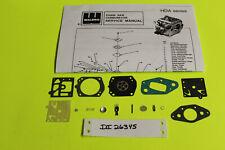 Solo 656 Chainsaw Carburetor Walbro  HDA170B Carb Kit