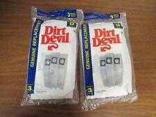 + lot of 2 3-PACK Dirt Devil Type D Replacement Vacuum Cleaner Bag