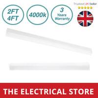 Integral LED Batten Light 2ft 4ft Slim Profile Wall or Ceiling Mount 4000k