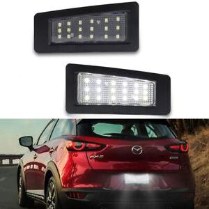 For Mazda CX-3/Mazda 3 Sedan Xenon White 18-SMD LED License Plate Lights Lamps