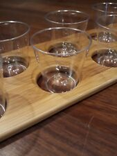Drinks Paddle Board 8 Shot with  Shot Glasses | Drinks Tray