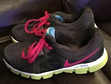 Womens' Nike Dual Fusion ST2 Lace Up Shoes Gray/Pink W/ Neon Soles Size 5.5