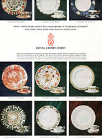 Royal Crown Derby Dinnerware Red Aves Asian Rose Imari Brittany 1970 Print Ad