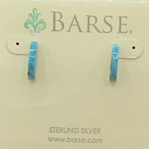 Barse Demilune Earrings- Turquoise & Sterling Silver- New With Tags