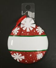Nwt Holiday Ornament/Personalizable Christmas Ball Ornament Glitter