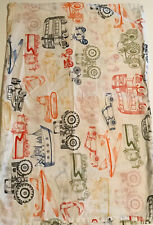 IKEA Kids Boys White Pillow Case Pillowcase With Multicolor Vehicles Cotton