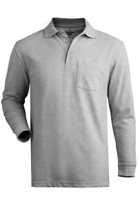 Blended Pique Long Sleeve Polo with Pocket Unisex
