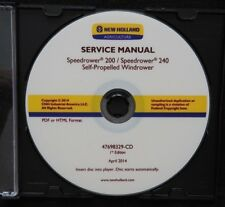 NEW HOLLAND SPEEDROWER 200 & 240 SELF-PROPELLED WINDROWER SERVICE REPAIR MANUAL