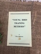 New listing Young bird training methods by Chas Heitzman Vintage Racing Pigeon Pamphlet