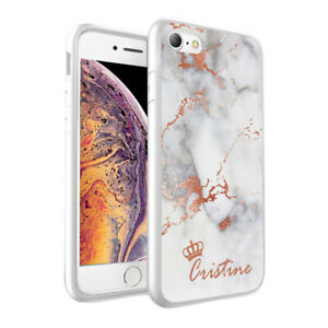 Personalised NAME MARBLE Printed Phone Back Case Cover for Various Models - 0020