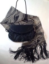 Black evening bag and Scarf
