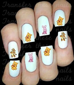 WINNIE L'OURSON  Stickers ongles autocollant manucure nail art water déco