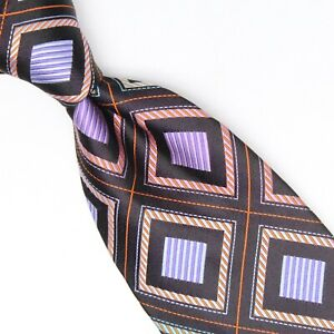 Robert Talbott Best of Class Mens Silk Necktie Black Pink Blue Purple Geometric