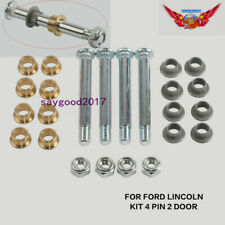 4 pin 2 Door Front Hinge Pin and Bushing Repair Kit  For Ford Lincoln Mercury
