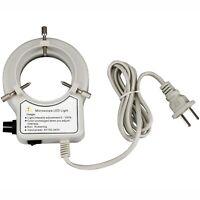 AmScope 56-LED Reinforced Microscope Dimmer Ring Light w Ring Adapter 110V-240V