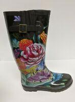 Anuschka Tall Rain Boots, Black Multi, Women's 7 M
